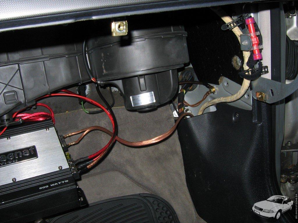 B5gaskutschede Endstufe In Einem Audi A4 B5 Verbauen